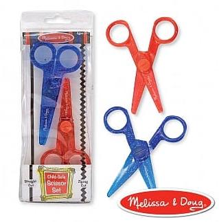 【紫貝殼】美國 Melissa & Doug 瑪莉莎 兒童專用塑膠安全剪刀組合包