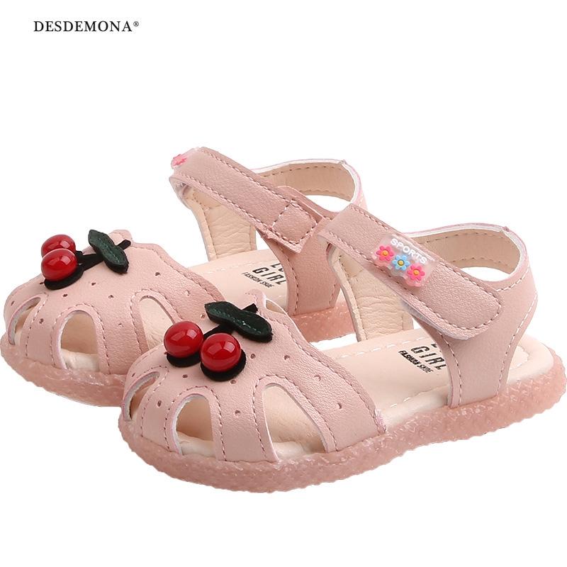 寶寶涼鞋夏季新款嬰兒軟底學步鞋韓版時尚女童公主鞋包頭鞋子