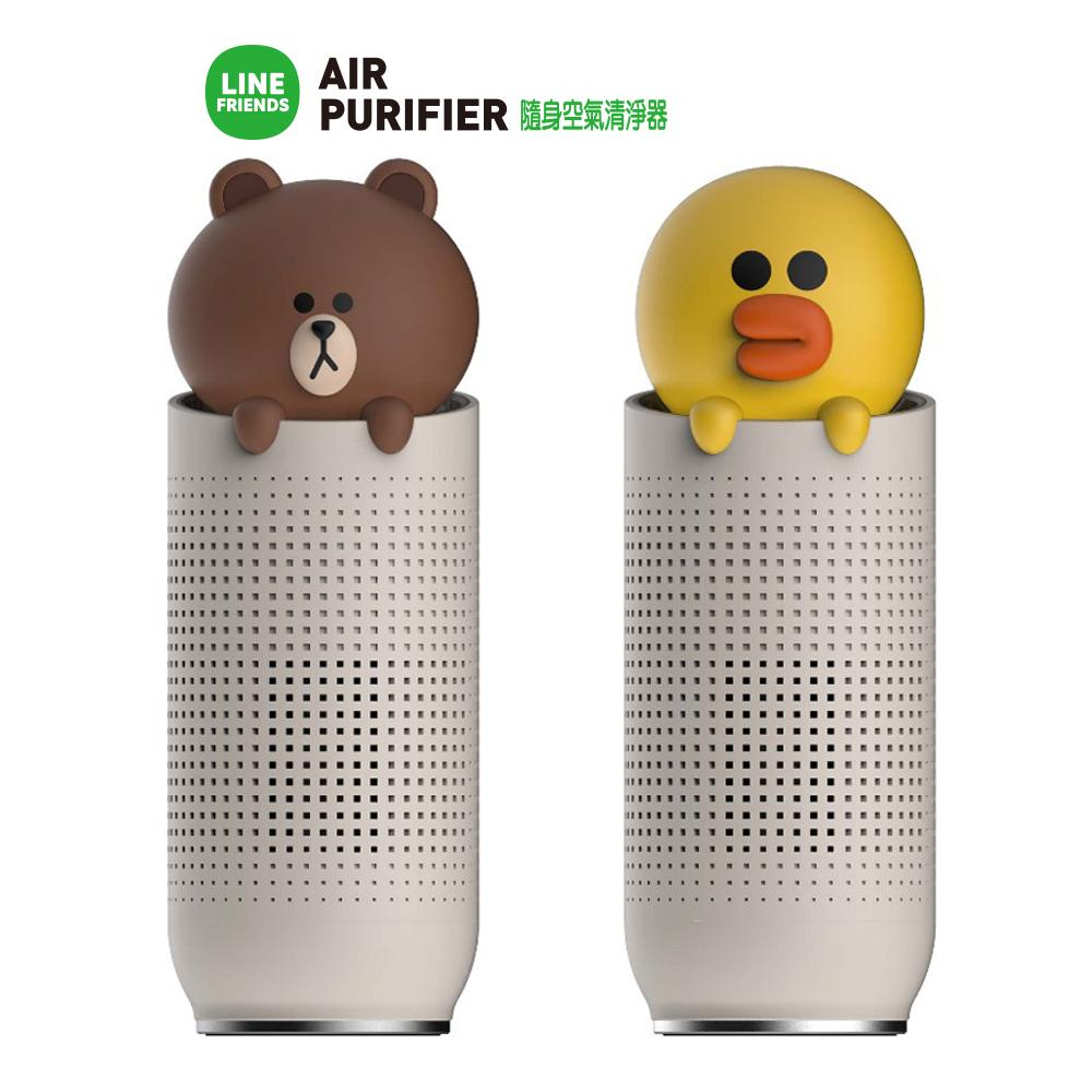 LINE熊大/莉莎 LINEFRIENDS 隨身空氣清淨機 USB連接 四層過濾 桌上清淨機 空清機 韓國原裝 超可愛