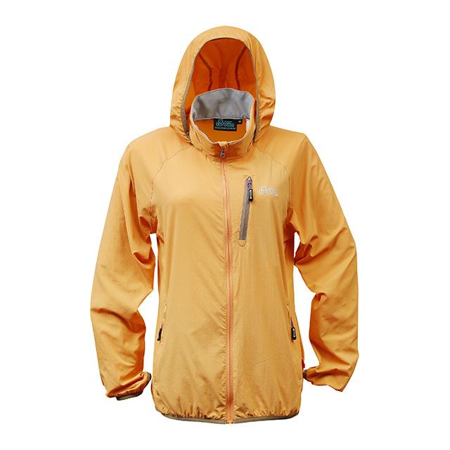 【LeVon】LV3451 - 女抗紫外線單層風衣 - 桔