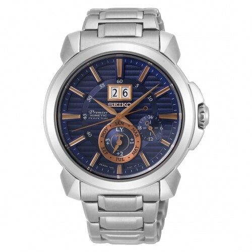 SEIKO Premier 廣告款人動電能自動追時萬年曆腕錶7D56-0AH0B