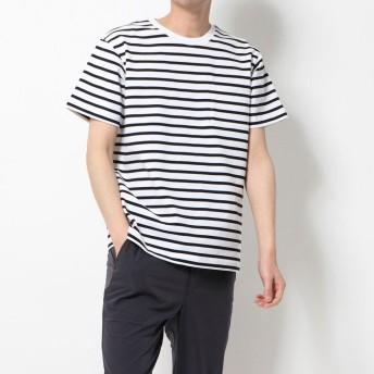 ティゴラ TIGORA メンズ 半袖Tシャツ SMART USAコットンヘビーウエイトボーダーTシャツ TR-9C1120TSHBOS