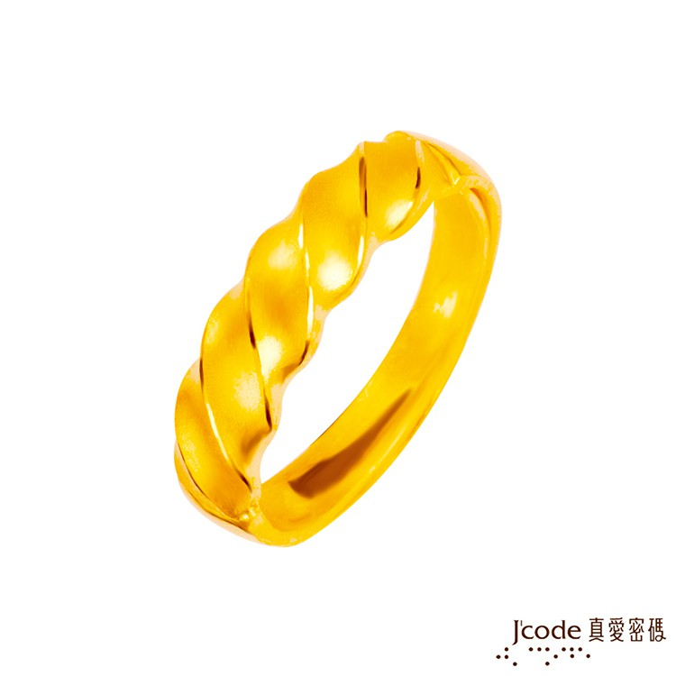 J'code真愛密碼  纏綿黃金男戒指