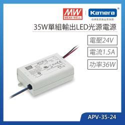 MW明緯 35W單組輸出LED光源電源(APV-35-24)