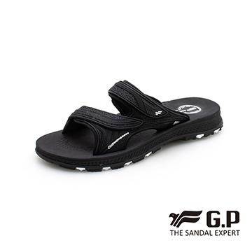 【G.P 男款柔軟耐用雙帶拖鞋】G0560-黑色 (SIZE:37-44 共三色)