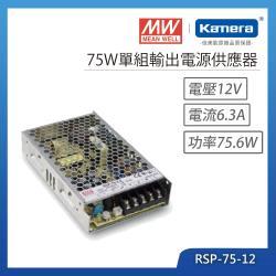MW明緯 75W單組輸出電源供應器(RSP-75-12)