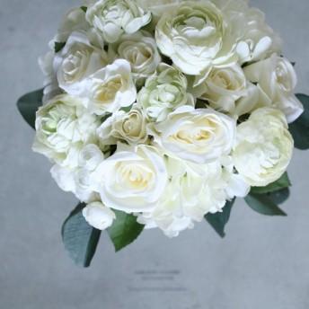 ホワイトローズとユーカリブーケ natural taste wedding