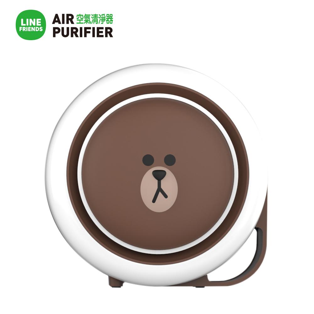LINE熊大 LINEFRIENDS 空氣清淨機(小漢堡) USB連接 四層過濾 桌上清淨機 空清機 韓國原裝 超可愛