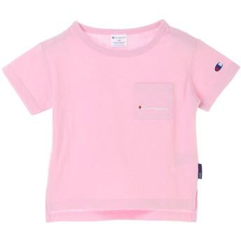 アースミュージックアンドエコロジー earth music & ecology ■Champion ポケット付き半袖Tシャツ (Pink)
