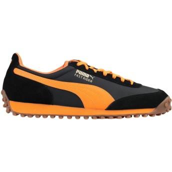 《セール開催中》PUMA メンズ スニーカー&テニスシューズ(ローカット) ブラック 6.5 革 / 紡績繊維 FAST RIDER OG PACK