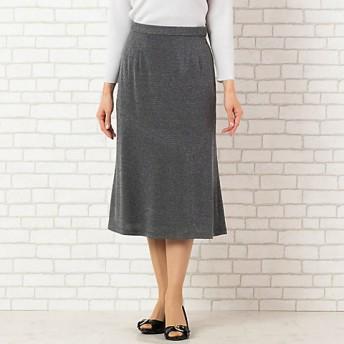 【送料無料】<PISANO/ピサーノ> 大きいサイズ [セットアップ対応] アシンメトリー切替のセミフレアースカート(12042011) グレー【三越・伊勢丹/公式】