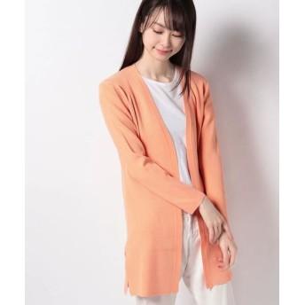 JOCONDE ROYAL/ジョコンダロイヤル リブ編み ニットカーディガン オレンジ 40