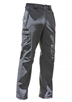 男刷毛直筒長褲-鐵灰