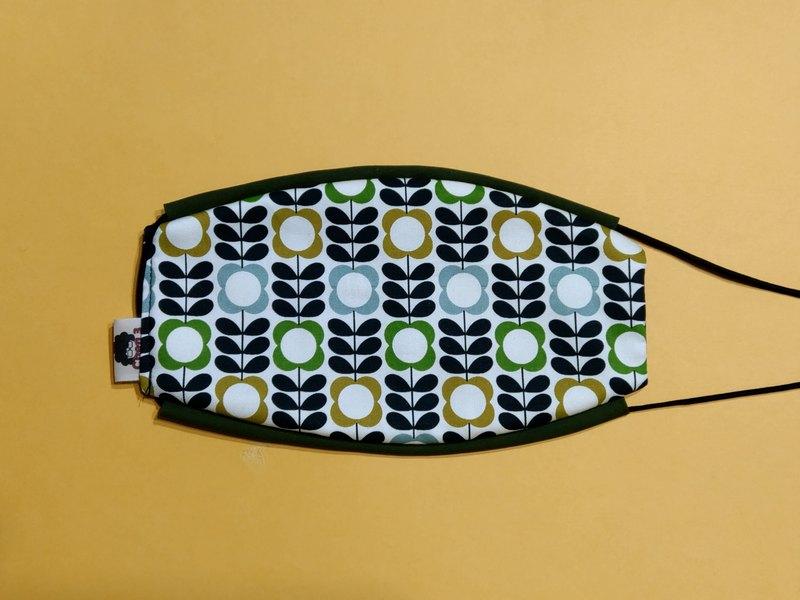 手工邊條立體口罩  純棉不織布  舒適  透氣  可水洗