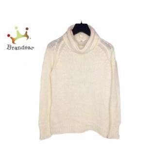 ニジュウサンク 23区 長袖セーター サイズ44 L レディース 美品 白 タートルネック 新着 20200302