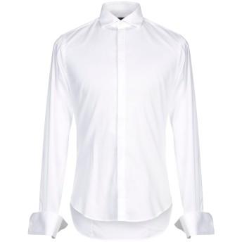 《セール開催中》BRIAN DALES メンズ シャツ ホワイト 40 コットン 100%