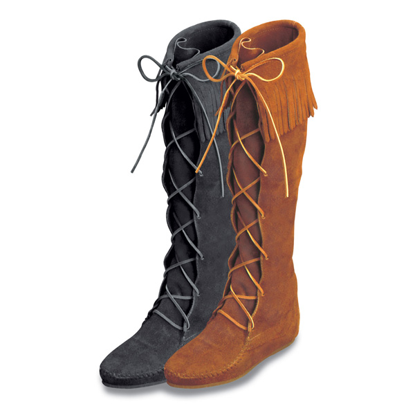 Minnetonka Front Lace Knee High Boot - Womens Boots