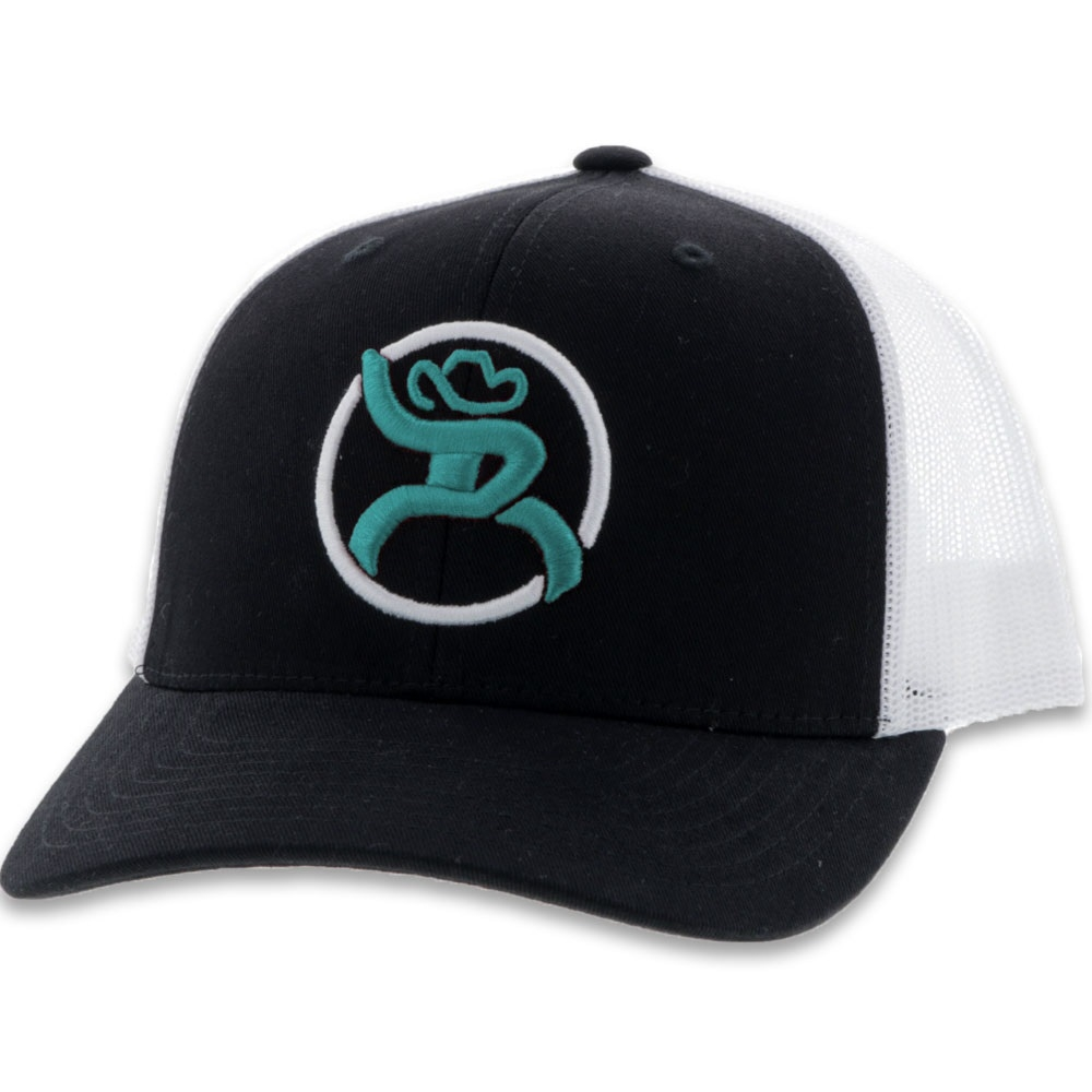 "HOOey Roughy ""Strap"" Black/White - Ball Cap"