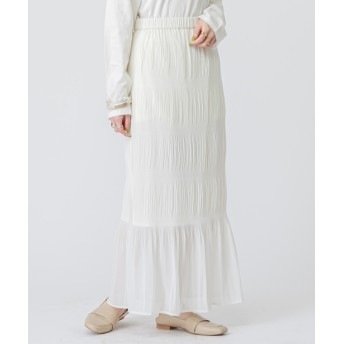 mystic(ミスティック) レディース マジョリカプリーツスカート ホワイト