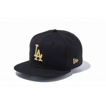 NEW ERA ニューエラ 9FIFTY ロサンゼルス・ドジャース ブラック × ゴールド スナップバックキャップ アジャスタブル サイズ調整可能 ベースボールキャップ キャップ 帽子 メンズ レディース 57.7 - 61.5cm 12336625 NEWERA
