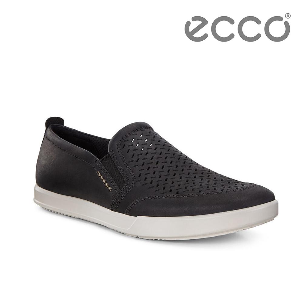 ECCO COLLIN 2.0 時尚透氣套入式休閒鞋 男(黑 53628402001)