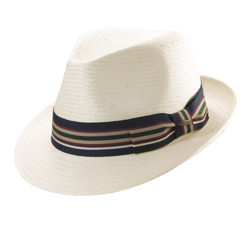 Scala Kennedy - Straw Fedora Hat