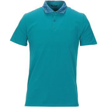 《セール開催中》MARCIANO メンズ ポロシャツ ディープジェード M コットン 95% / ポリウレタン 5%