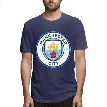 マンチェスター シティ フットボール メンズ Tシャツ ファッション 2020新型 プリント 100%コットン 半袖 インナーシャツ 夏季対応 トップス 軽い 柔らかい かっこいい おしゃれ