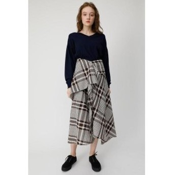 マウジー(MOUSSY)/CHECK FLUTTER スカート