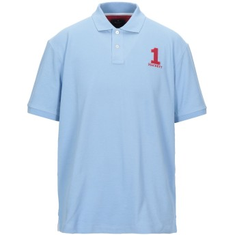 《セール開催中》HACKETT メンズ ポロシャツ スカイブルー XL コットン 100%