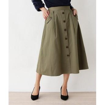 <SHOO LA RUE/シューラルー> Aラインフロントボタンスカート(2001627072) カーキ【三越・伊勢丹/公式】