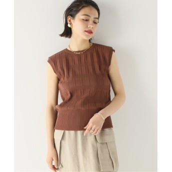 BOICE FROM BAYCREW'S 【RITA】DIFFERENCE PATTERN KNIT TOP ブラウン フリー