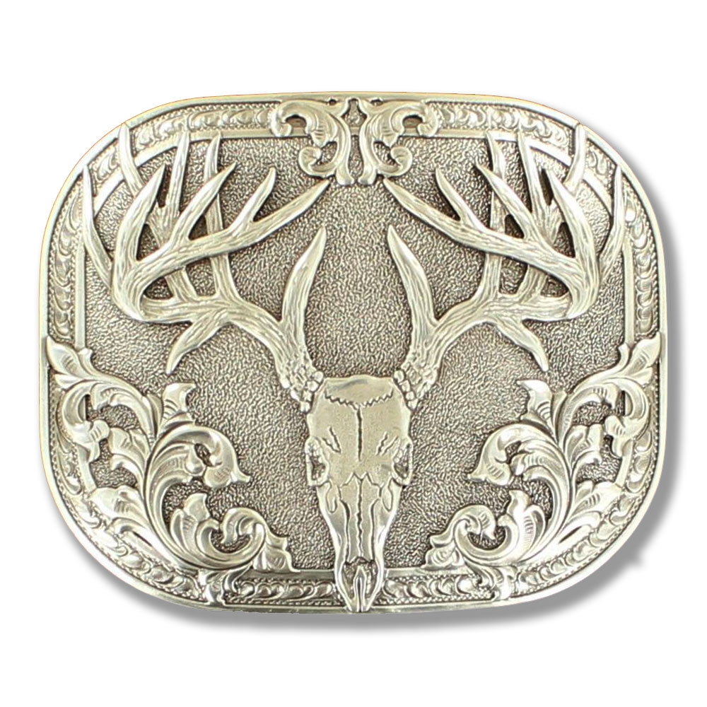 Nocona Deer Skull - Belt Buckle