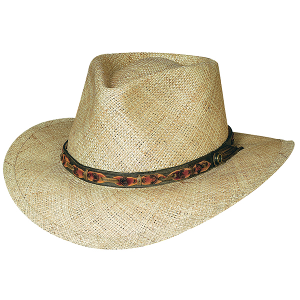 Bullhide Island Magic - Straw Outdoorsman Hat
