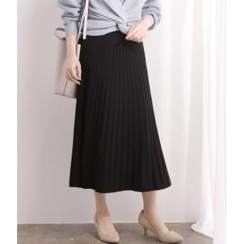 ビス/【セットアップ対応】プリーツ編みニットスカート/ブラック/F