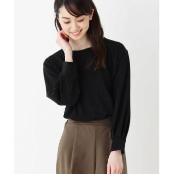 SHOO・LA・RUE/シューラルー ポンチ袖口タックプルオーバー ブラック(019) 02(M)