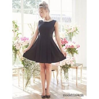 <MAISON DE FLEUR/メゾン ド フルール> バックリボンプリーツドレス スモールサイズ BLK(112)【三越・伊勢丹/公式】