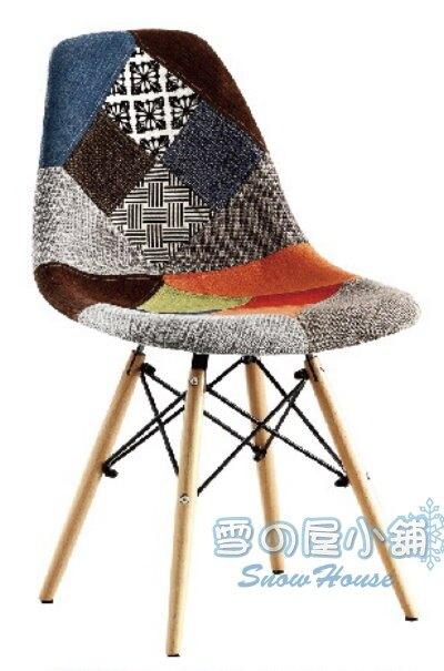 ╭☆雪之屋居家生活館☆╯632B餐椅(百家布)BB385-7#4268B