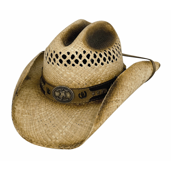 Bullhide Shut Up And Ride - Straw Cowboy Hat