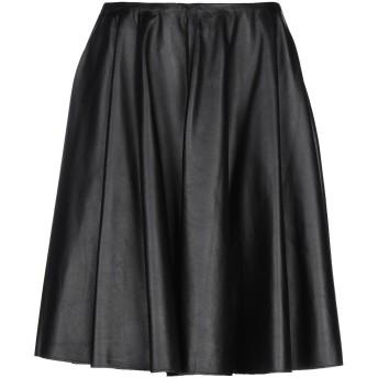 《セール開催中》MM6 MAISON MARGIELA レディース ひざ丈スカート ブラック 40 羊類革 100%