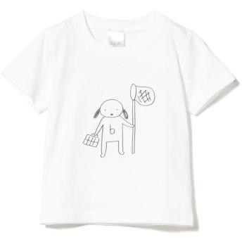(こどもビームス/コドモビームス)こども ビームス / チャーミー虫とり Tシャツ 19 (90~110cm)/ WHITE