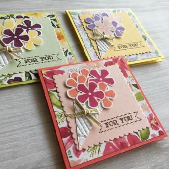 【多目的カード】花束 3枚セット