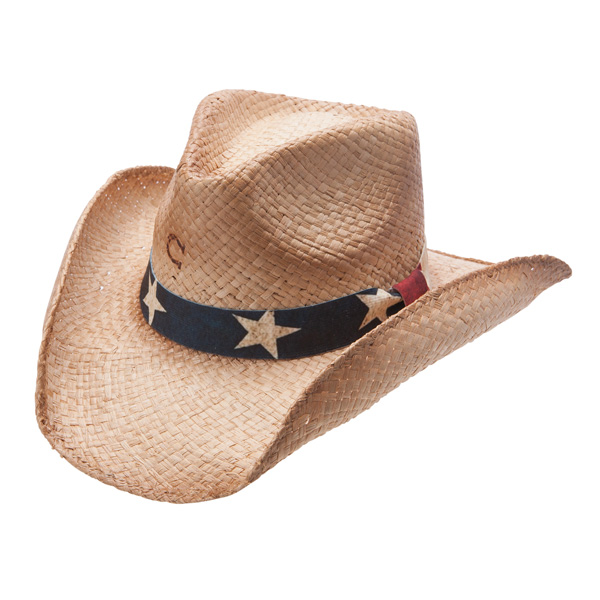 Charlie 1 Horse Stars and Stripes - Shapeable Straw Cowboy Hat