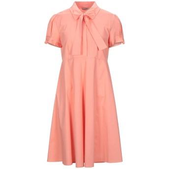 《セール開催中》SCEE by TWINSET レディース ミニワンピース&ドレス サーモンピンク L コットン 97% / ポリウレタン 3%