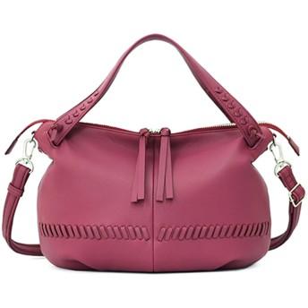 【オンワード】 IBIZA(イビサ) ビシータ やぎ革 2WAYバッグ(M) 濃ピンク FREE レディース 【送料無料】