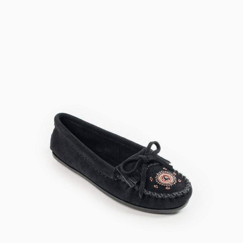 Minnetonka Me To We Moc Rubber Sole - Womens Moccasin