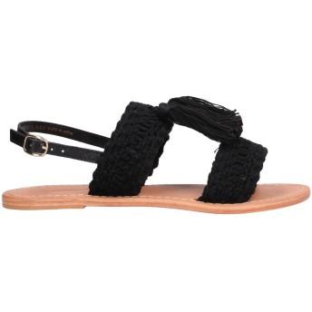《セール開催中》%PERCENT レディース サンダル ブラック 36 革 / 紡績繊維