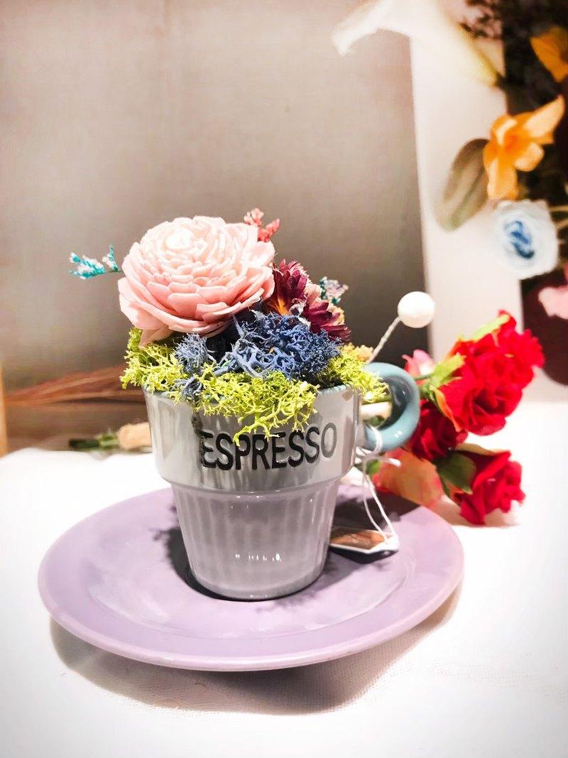療癒咖啡小品花禮