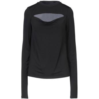 《セール開催中》PINKO レディース T シャツ ブラック S レーヨン 94% / ポリウレタン 6% / ナイロン / アセテート / ポリエステル