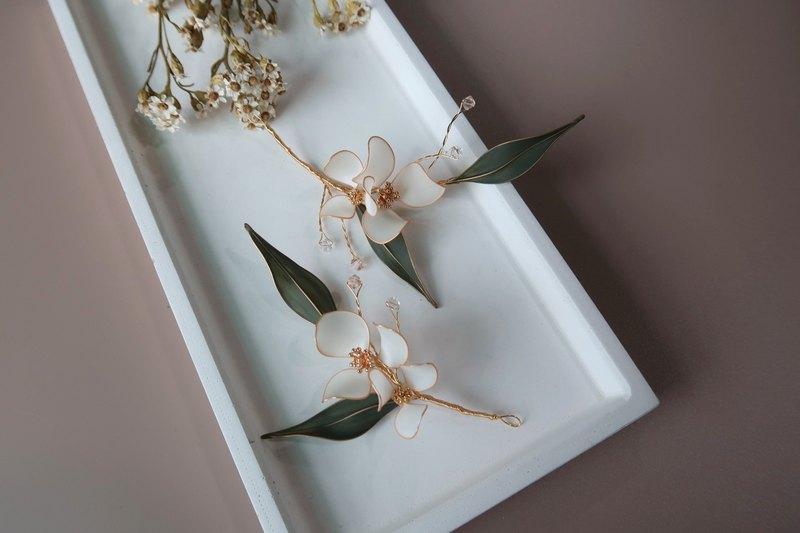 成雙成對-手作水晶花飾品 新娘頭飾/伴娘配飾